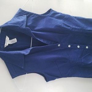 Dark Blue color XS 98% Cotton 2% Spandex Top